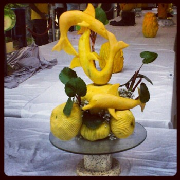(c) FRUIT AND VEGETABLES CARVING @BURJUMAN WORLD FOOD FESTIVAL