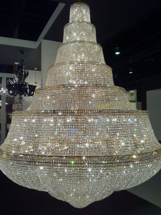 Biggest chandelier shopaholics travel diary a huge chandelier that is approx 10 12 foot in height and around 6 7 foot width made out of 100000 crystals gold plated over the silver i was really aloadofball Gallery