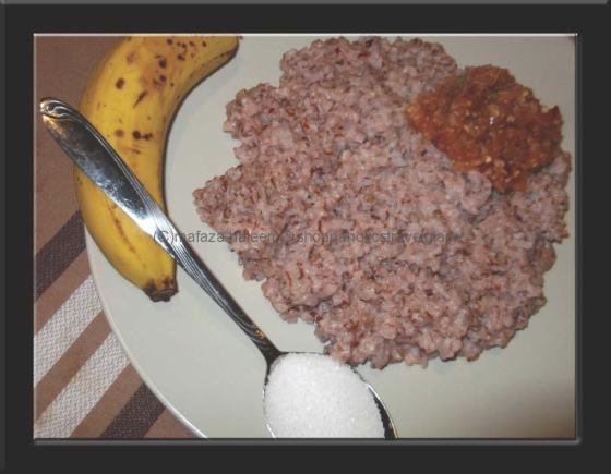 My plate of kiribath